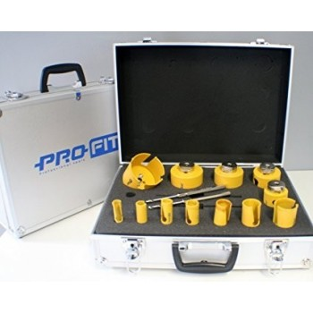 ProFit 09081682BD Allu koffer MP- 12Ø(16-82mm) Hole Saws and various accessories
