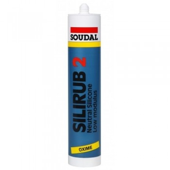 SOUDAL SILIRUB 2 BLACK 310ML Adhesives and silicones