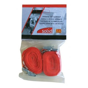 SOLID JK 20020 Lashing strap with cam buckle 20 mm Webbings and lanyards
