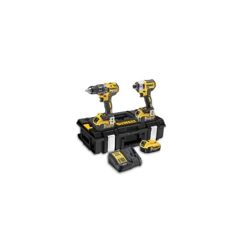 Dewalt DCK266P3-QW - DCD796 + DCF887 + 18V 3x5,0Ah in box toughsystem Cordless-Drill-Screwdrivers