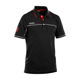 BLAKLADER Polo Black/Red Polos
