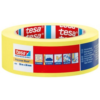 TESA 4334 Precision Mask Cl17 YELLOW 50mx38mm Tapes