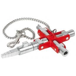 Knipex 00 11 06 - CLE UNIVERSELLE SPEC. ARMOIRE-FERMETUREPinces universelles et multi-fonctions
