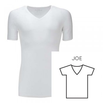 SIZABLE REGULAR-V NECK WHITE JOE M EUCALYPTUS T-Shirts
