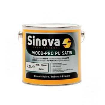 Sinova WOOD-PRO PU SATIN Blanc-Wit 2,5LPROMOTIES