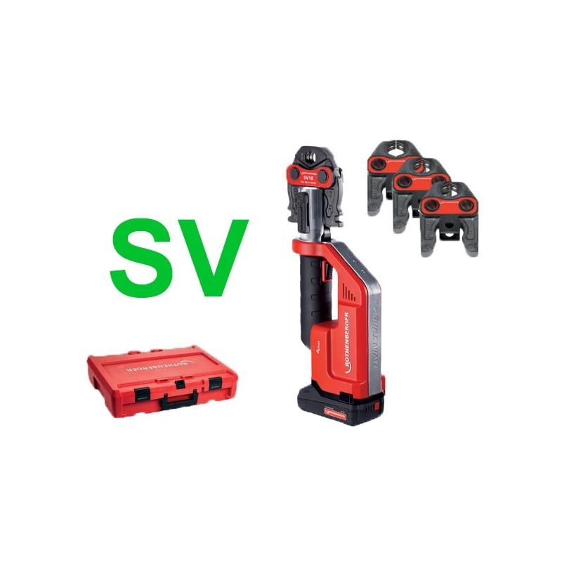 Rothenberger ROMAX Compact TT Set SV15-22-28, 1x2Ah,EU(SV) Machines