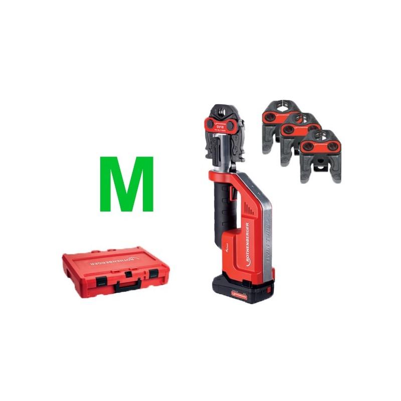 Rothenberger ROMAX Compact TT Set M15-22-28, 1x2Ah,EU (TH) Machines