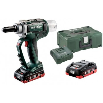 Metabo NP 18 LTX BL 5.0 Cordless Blind Rivet Gun - 2x4,0Ah Blind staplers