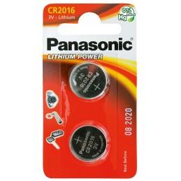 PANASONIC Pile Panasonic Lithium Power piles bouton - type CR-2016Piles, batteries, chargeurs