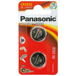 PANASONIC Pile Panasonic Lithium Power piles bouton - type CR-2032Piles, batteries, chargeurs