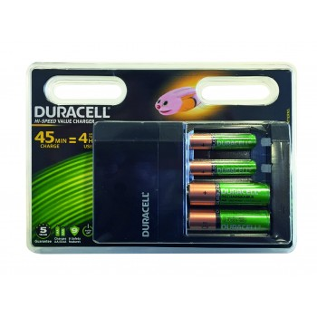 DURACELL Chargeur Duracell Super rapide 45 minutes + 2 AA + 2 AAA (EX PS 045000)Piles, batteries, chargeurs