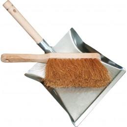 BATI-CLEAN SET pelle à poussière métalique + balayette cocoRamassettes
