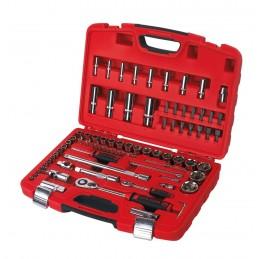 CETAFORM Socket wrench set 85-piece - 1-2 & 1-4 Kits and set tools