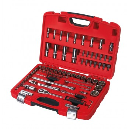 "CETAFORM Set of socket wrenches 85 pcs - 1/2 ""and 1/4"" Bits Sets"