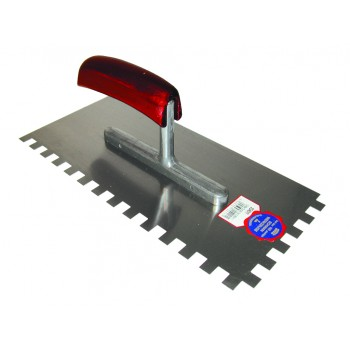SCHWAN Plastered serrated 280 x 130/10 x 10 mm / ZG22 with wooden handle - steel\n Trowels