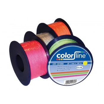 COLOR LINE Mason's cord 1 mm x 100 m - NYLON - fluo yellow Ropes