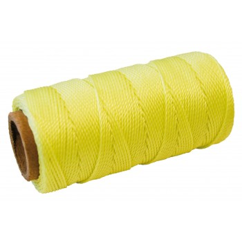 COLOR LINE Masonry cord 1 mm x 100 m - POLYPROPYLEEN - fluorescent yellow Twines and ropes - Masonry and tiling