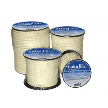 COLOR LINE Cord 6 mm x 100 m braided with NYLON core Twines and ropes - Masonry and tiling