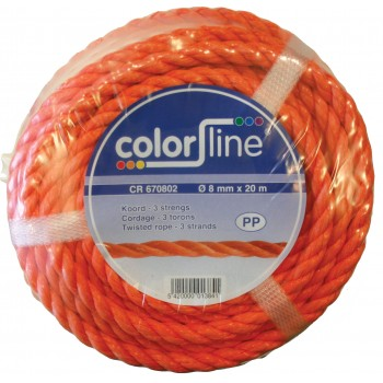Color Line CR 670602 Polypropylene PP Twisted rope Ropes