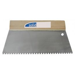 SOLID Couteau à colle, denture carrée 250 mm - 8 x 8 mm C4Spatules, couteaux de Peintres