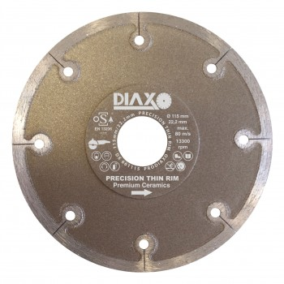 PRODIAXO PRECISION THIN RIM diamond wheel - 125 x 22.2 mm - Premium Ceramics Diamond saws for dry and wet use