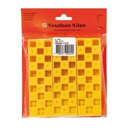 Knudsen Cales biseauté 25 x 45 x 150 mm - par 6 pcs - jauneCales d'ajustement et de montage