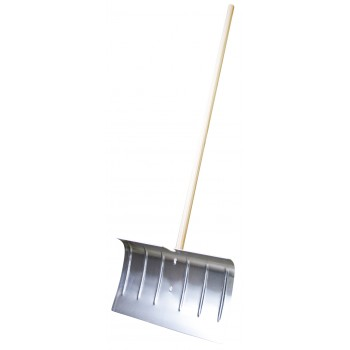 SOLID Aluminium snow plough - 500 x 350 mm - with wooden handle Home
