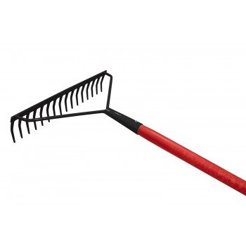 SOLID rake reinforced with curved teeth - with fiber handle Home
