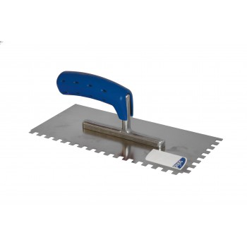 SOLID Plastered serrated 280 x 130/6 x 6 mm / ZG18 mane SOFT GRIP - stainless steel\n Trowels