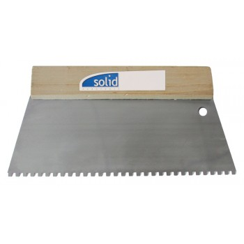 SOLID Plastered serrated 280 x 130/12 x 12 mm / ZG37 mane SOFT GRIP - stainless steel\n Trowels