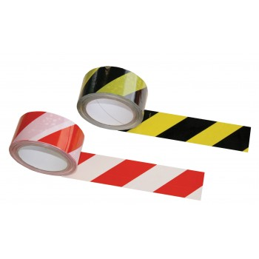 SUPERTAPETape de signalisation PVC noir et jaune - 50 mm x 33 m\nAdhésifs