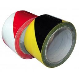 SUPERTAPETape de signalisation PVC rouge et blanc - 50 mm x 33 m\nAdhésifs