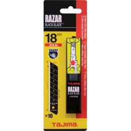 TAJIMALames cassables 18 x 0,5 mm RAZAR BLACK BLADE - par 10 pcs\nCouteaux, cutters et lames