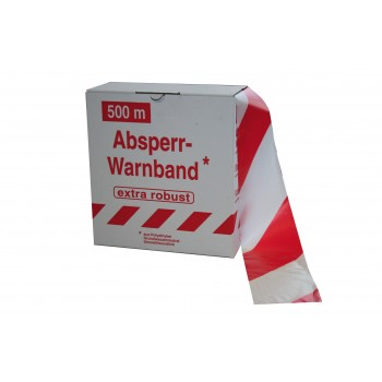 COLOR LINE EXTRA warning tape 500m x 80mm - white / blush\n Road signs