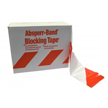 COLOR LINE SUPER signaling tape 200m x 80mm - white / red\n Road signs