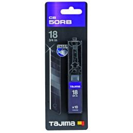 TAJIMA 'Premium' RAZAR BLACK BLADE knives - 18 mm - per 10 pcs. Accessories for knives and cutters