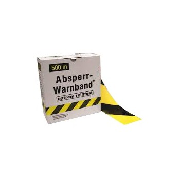 COLOR LINE Signal tape SUPER 500 m x 80 mm yellow-black Road signs