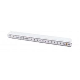 SOLID Folding Plastic Meter 2m x 16mm - white - FIBER\n Rules