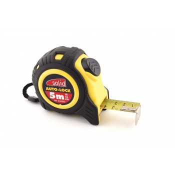 SOLID Tape measure 5m x 25mm ABS Bi composite\n Rules