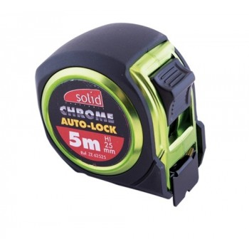 SOLID Tape measure 5m x 25mm chrome\n Rules