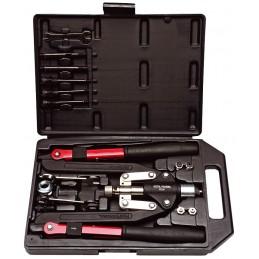 CETAFORMPince à riveter avec clefs et ressort en set pour rivets 2,4 5,5 et rivets écrous M4 M10 (EX BG 055060)\nJeux de pin...