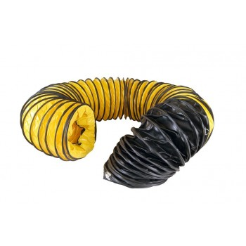 Master Flexible black-yellow hose 7,6m - 407mm Professional blowers and air circulators