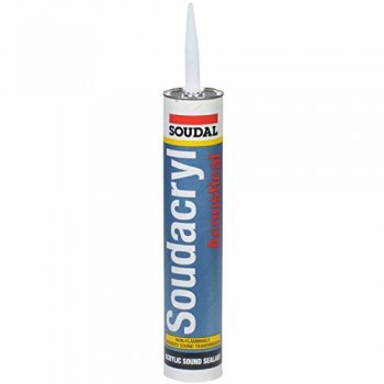 Soudal 310mL Silirub 2 WHITE Adhesives and silicones