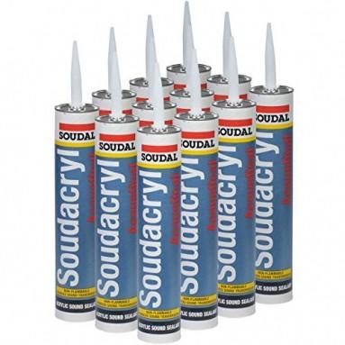 Soudal 310mL Silirub 2 WHITE - 15pcs Adhesives and silicones