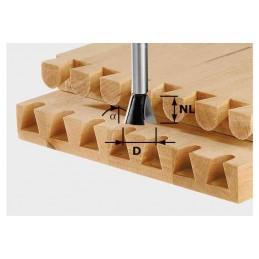 Festool SWALLOW TAIL CUT HW S8 D14.3 - 16-10 ° Milling accessories