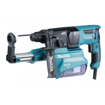 Makita HR2651 - Perfo-burner SDS + 26mm 800W + dust suction + cabinet Plugged