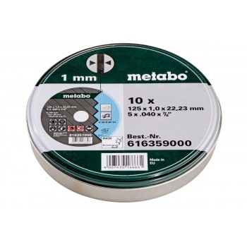 Metabo 6616359000 - Cut-off wheels 125 x 1.0 x 22.23 stainless steel, TF 41 (10pcs) 125 mm