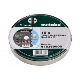 Metabo 6616359000 - Doorslijpschijven 125 x 1,0 x 22,23 roestvrij staal, TF 41 (10st)125 mm