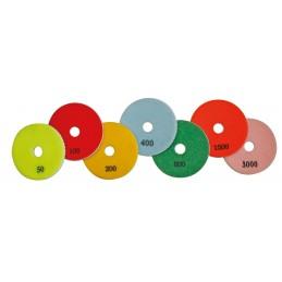 PRODIAXO Set of 3 wet diamond pads Ø 100 mm - grain 3000 - PREMIUM Accessories for polisher