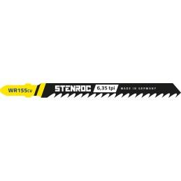 STENROC Jigsaw blade HOUT (5pcs) - WR155CV, 100 mm x 6.35tpi (EX IR 10504221) Home